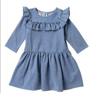 Pippa & Julie Knit Dress Pompoms Size 2T